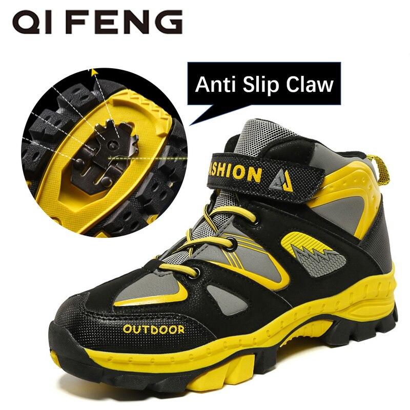 Spor ve Eğlence'ten Dağ Yürüyüşü Ayak.'de Çocuk Açık Spor yürüyüş botları Gençler Dağcılık trekking ayakkabıları Erkek Kış yarım çizmeler Çocuklar Klasik Spor Ayakkabı'da  Grup 1