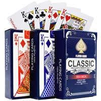 100% PVC plastic New pattern Baccarat Plastic Waterproof Playing Card Games Texas Hold'em Poker Cards Board Games 58*88mm cards