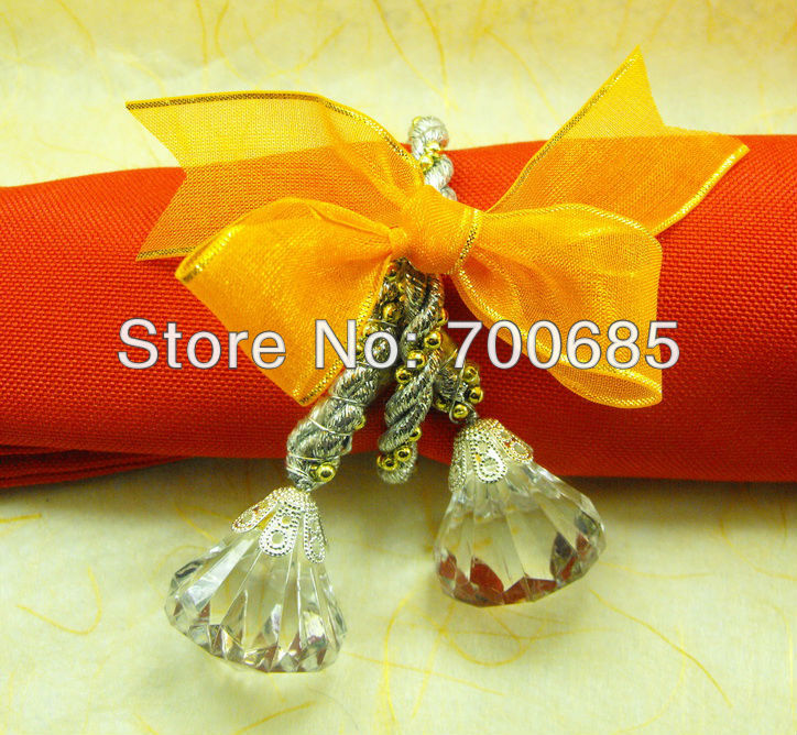 acrylic wholesale napkin rings beaded wedding in napkin rings from