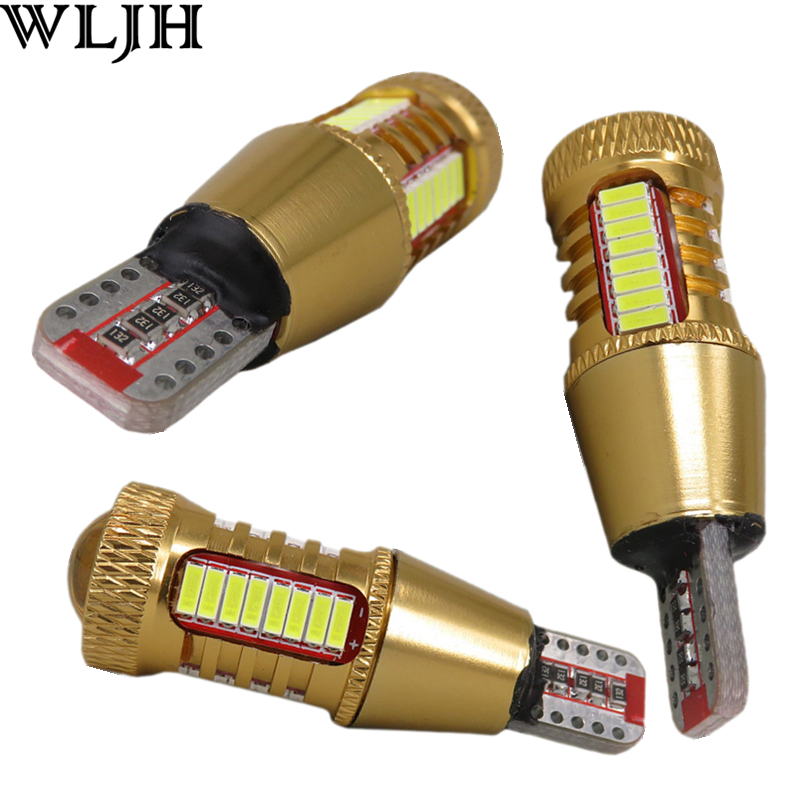 WLJH 2x Canbus Car LED Lamp W16W Led T15 4014 Chip Backup Reverse Light Bulb for VW Volkswagen Audi BMW Mercedes-Benz Mini FIAT wljh 2x canbus led 20w 1156 ba15s p21w s25 bulb 4014smd car lamp drl daytime running light for volkswagen vw t5 t6 transporter
