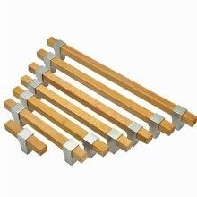 Деревянная дверца шкафа ручки Ручки Матовый никель бронзовые для выдвижных шкафчиков ручки комода кухонное оборудование 96 128 160 192 224 мм