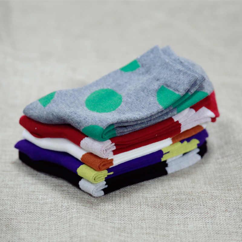 Wyprzedaż! Jesień nowe kobiety w skarpetce rurowej duże punkty skarpetki damskie bawełniane EUR35-40