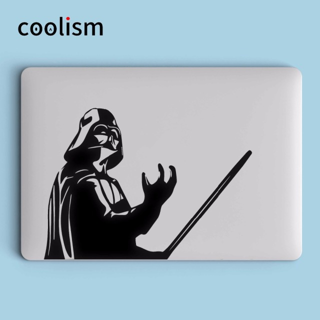 Star wars darth vader laptop sticker for macbook decal air pro retina 11 12