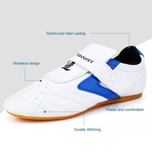Taekwondo Shoes Martial Arts Kung Fu Wushu Taichi Karate Wrestling Boxing White Shoes Men Women Kids Trainning Sneakers Footwear