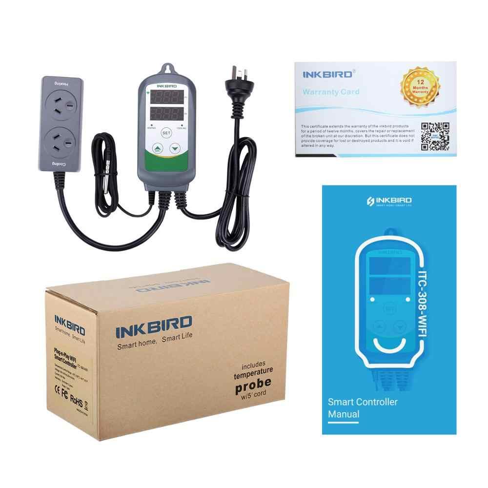 Inkbird ITC-308 au プラグ wifi デジタル温度コントローラ加熱冷却サーモスタット温度調節 homebrewing のためのインキュベーター