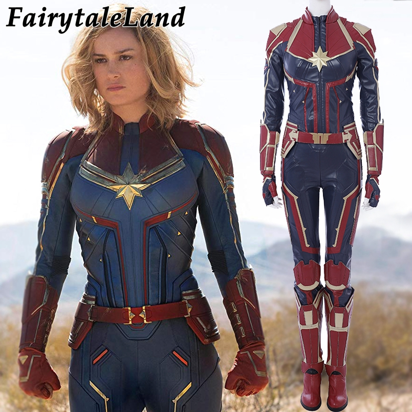 Костюм капитана Марвел для косплея Carol Danvers 2019 костюм супергероя на Хэллоуин Ms. Marvel комбинезон для косплея Carol Danvers костюм