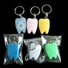 15M Dental Floss for Teeth Cleaning Oral Care Kit Dental Hygiene Mint Fragrance Portable teeth key chain Portable Random Color