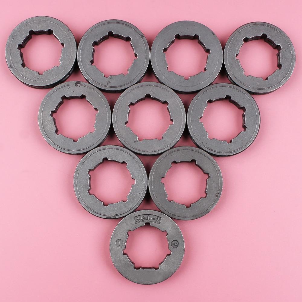 Tools : 10pcs lot  404 7 Teeth Standard Spline ID 22mm Sprocket Rim For Stihl 075 076 050 051 045 045AV Chainsaw Spare Part