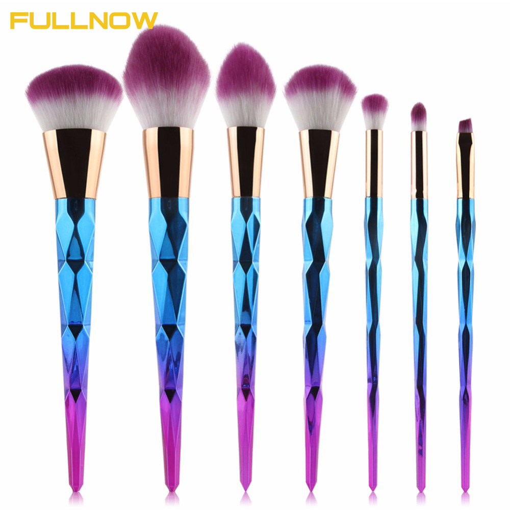 Professional Diamond 7/10Pcs Makeup Brushes Set Maquiagem Cosmetic Eyeshadow Lip Powder Face Pinceis Tools Kabuki Brush Kits кисти для макияжа kabuki brush 100% 27 pinceis maquiagem makeup brushes