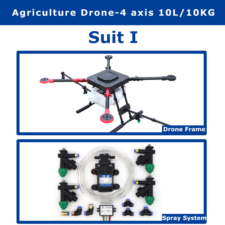 EFT 10KG/10L spraying gimbal system 1300mm Wheelbase Folding Quadcopter Spray pump Agriculture drone 4 -axis все цены