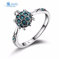 Brand Crystal 925 Sterling Silver Animal Rings Jewelry For Birthday Gift For Women GW Fine Jewelry