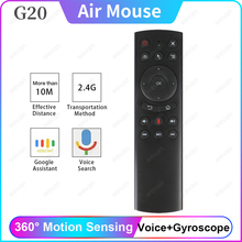 G20/G20S Voice Control 2.4G Wireless Fly Air Mouse Keyboard Motion Sensing Mini Remote Control IR Learning For Android TV Box PC цена