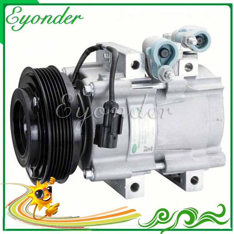 Auto A/C AC Air Conditioning Compressor Cooling Pump Pulley PV6 HCC HS18 for FORD ESCAPE 2.3 MAZDA TRIBUTE 2.3L 4CYL F500LM3AA01 kingsun rear adjustable camber suspension control arms for ford escape 2001 2012 mercury mazda tribute