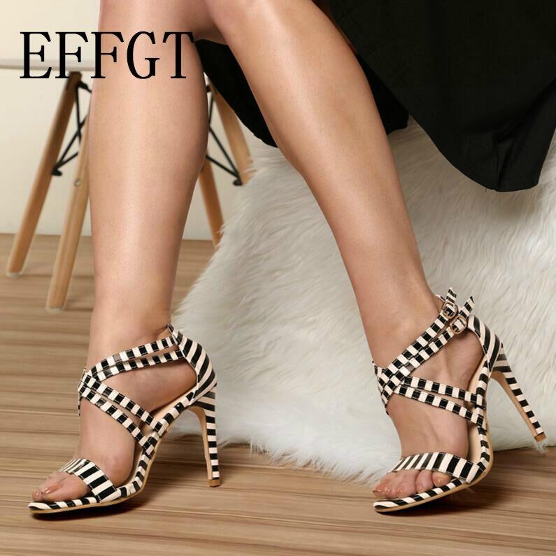 Wedding High Heels Sandals: EFFGT Summer Peep Toe Womens Pumps Sandals Dress Wedding