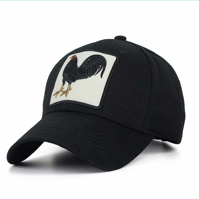 607c488da0f Cock Embroidery Baseball Cap Men Women Cotton Streetwear Hip Hop Unisex  Snapback Bone Sports Trucker Cap