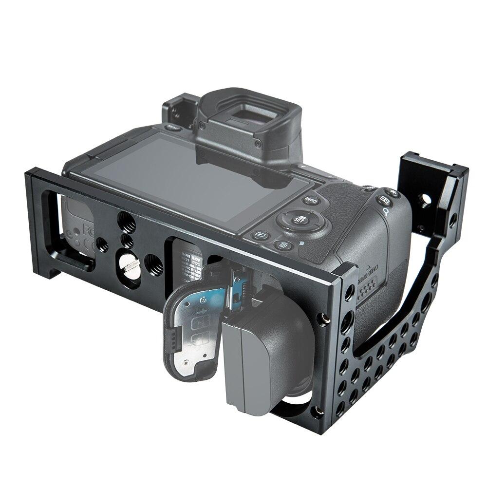 Film vidéo en aluminium de Cage de caméra faisant le stabilisateur de plate-forme pour le Canon EOS R avec le support froid de chaussure pour le moniteur magique de Microphone de bras - 5