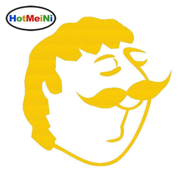 Arrogant Gentleman Comics Humor Man Head Silhouette of Car Stickers Window Bumper SUV Auto Door Vinyl Decal 10 Colors Color Name: as Picture Decals & Bumper Stickers
