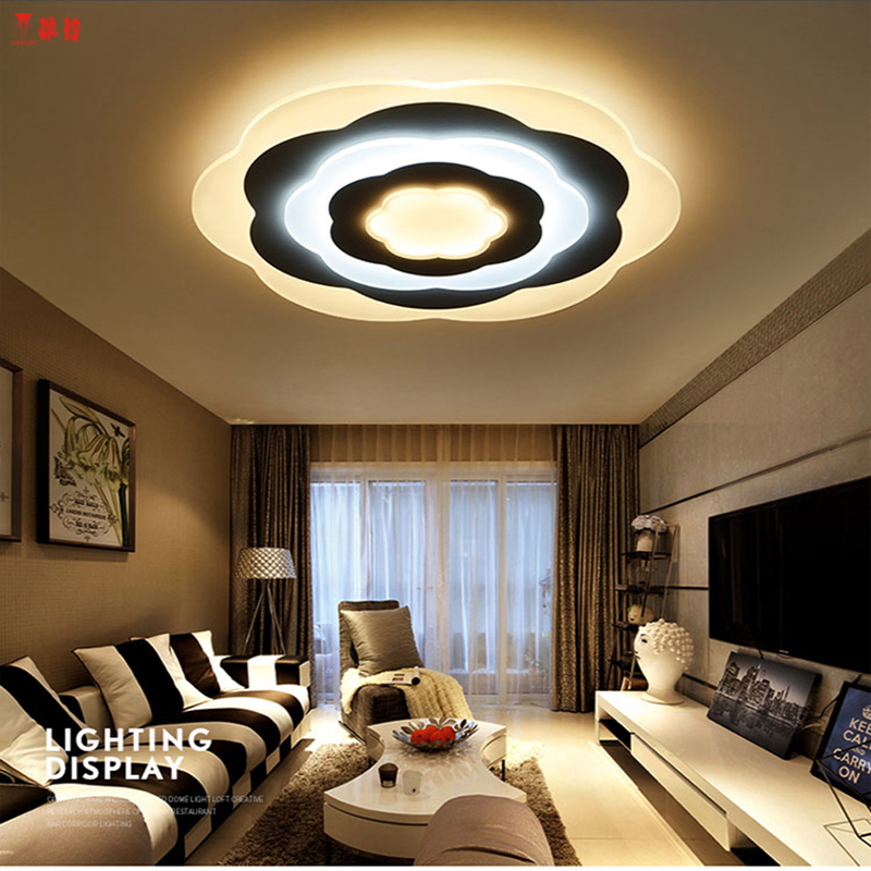 2017 modern LED Ceiling Lights acrylic Ultrathin Living Room ceiling lights bedroom Decorative lampshade Lamparas de techo noosion modern led ceiling lamp for bedroom room black and white color with crystal plafon techo iluminacion lustre de plafond