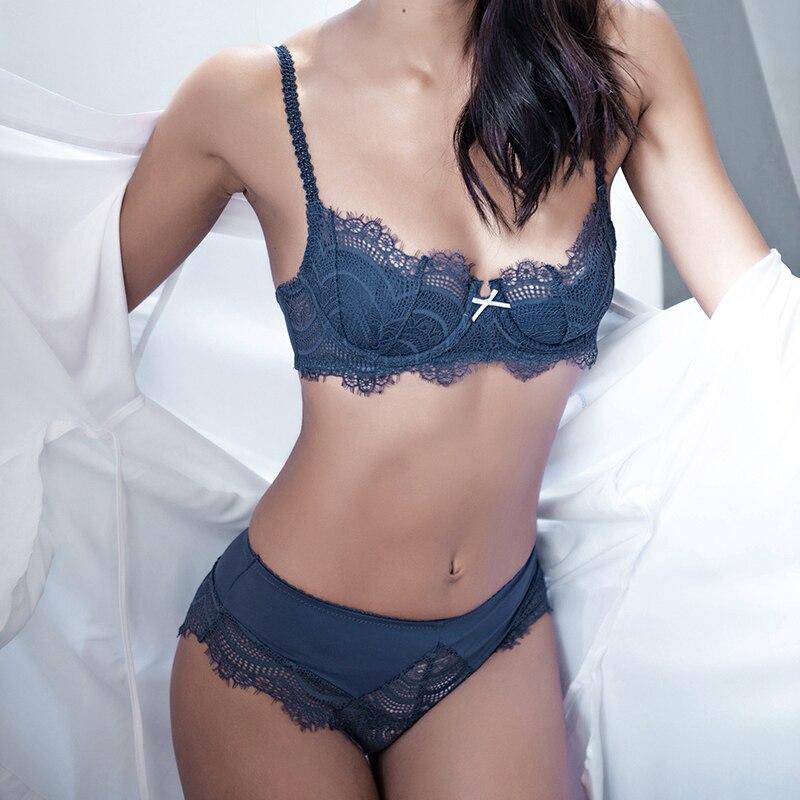 CINOON new Lingerie Lace   Bra     set   Sexy Underwear Push up Brassiere cotton panty fashion design breathable women   bra