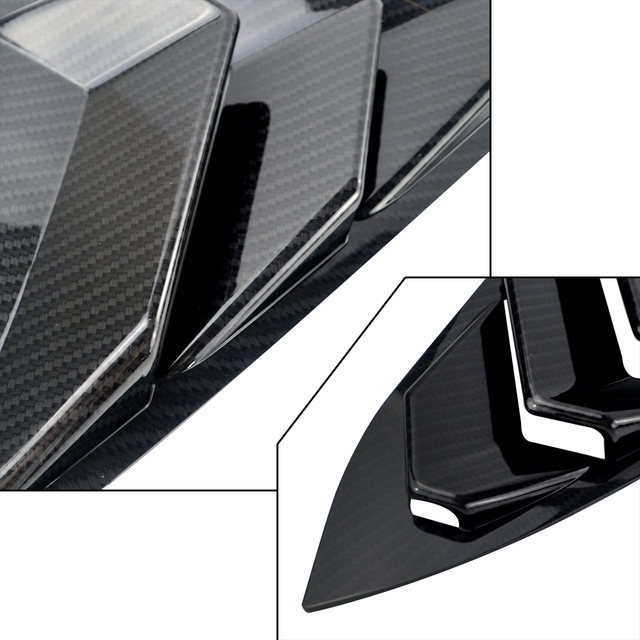 PQY - Rear Window Quarter Side Vent Window Louvers Scoop Cover For Honda Civic 10th 2016 2017 Car-styling Parts