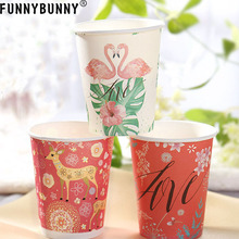 FUNNYBUNNY 5pcs Party Supplies Cups Disposable Paper Drinking Cup