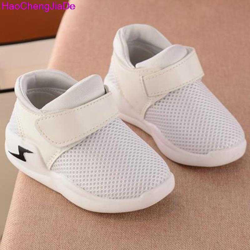 59d5710b5 ... HaoChengJiaDe/Летняя дышащая детская обувь для мальчиков и девочек,  модные детские кроссовки с вырезами ...