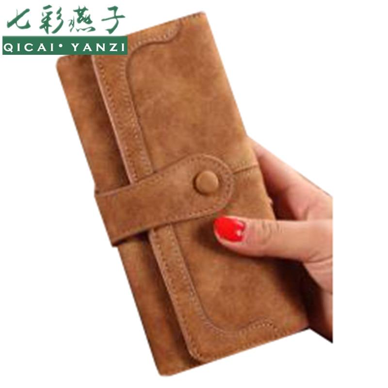 2016 9 цветов новый женский PU кожаный кошелек долго популярные мода леди сумки держателя карты сумки billeteras пункт mujer N697