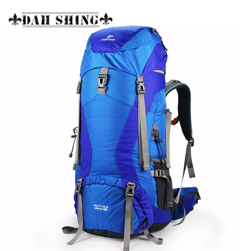 Waterproof Double-shoulder mountaineering bag large capacity 65L Nylon travel backpack tent bag travel bag nylon double shoulder bag backpack