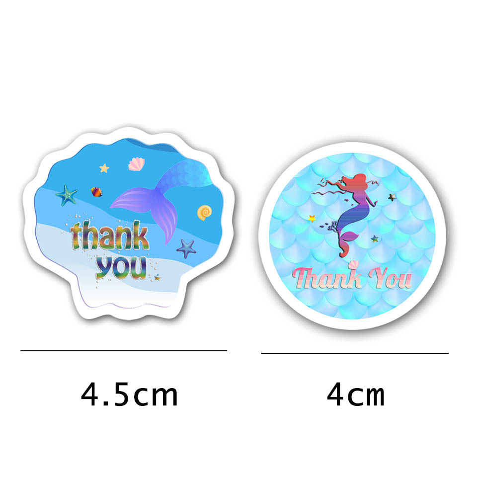 Mermaid party stickers (2)