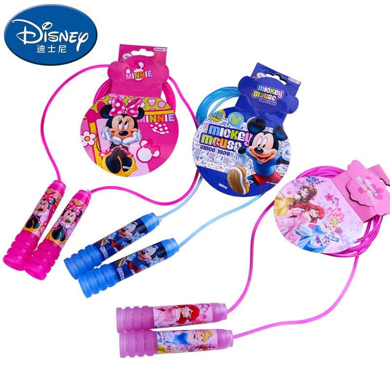 3 шт./лот 2,4 м Микки принцесса disney игрушка Качели Скакалка дети мультфильм спираль ручка кристалл скакалка ...