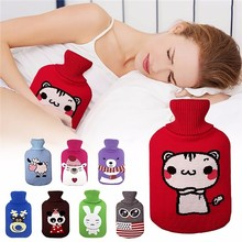 2017 New Creative Cute Hot Water Bottle Bag Cover Safe And Reliable High-quality Rubber Washable Household Warm Drop shipping