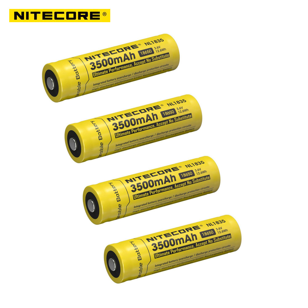 4pcs Nitecore NL1835 18650 3500mAh(new version of NL1834)3.6V 12.6Wh Rechargeable Li-on Battery high quality with protection fundamentals of physics extended 9th edition international student version with wileyplus set