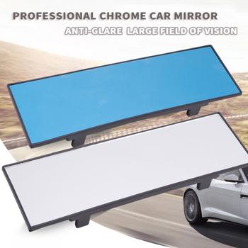 1 sztuk nowy uniwersalny 290mm HD samochodów Chrome lusterko wsteczne szerokokątne lusterko wsteczne Auto szeroki obsługi Planar wnętrze klip na widok z tyłu lustro tanie i dobre opinie Lusterka wewnętrzne HJX-834 mirror 0 35kg 29cm 2018 0 5cm