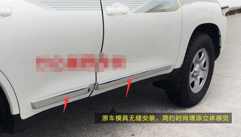 Pour Toyota Land Cruiser 200 2008-2016 Chrome Corps Côté Garnir Moulding Garniture Kits Chrome Car Styling Accessoires