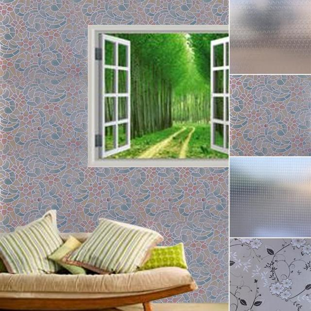 wavy glass windows old style 45200cm frosted window film stained glass vinyl wavy paper privacy covering for kitchen balcony