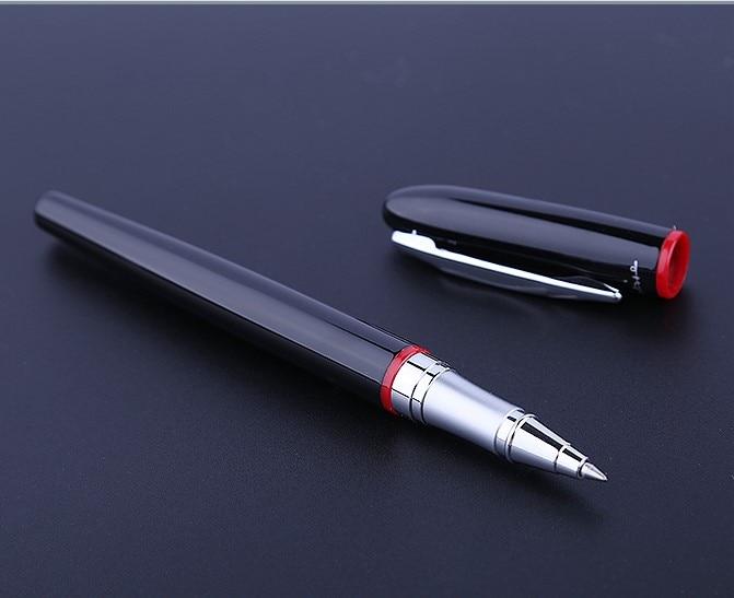 1 pc lote montmartre picasso 907 vermelho e preto roller ball pen bola clipe de prata