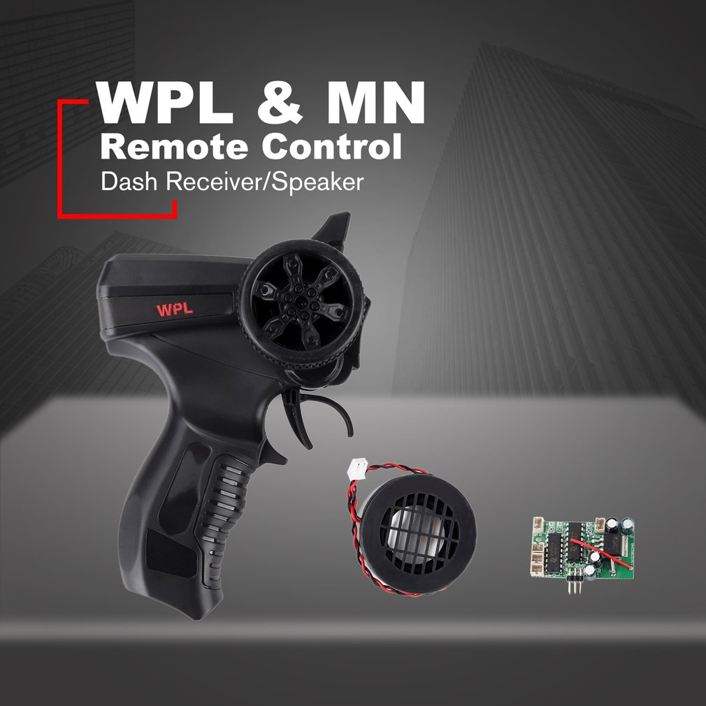 1 PC simuler télécommande/Dash récepteur/haut-parleur jouet pour WPL & MN RC voiture groupe de son petit haut-parleur récepteur carte