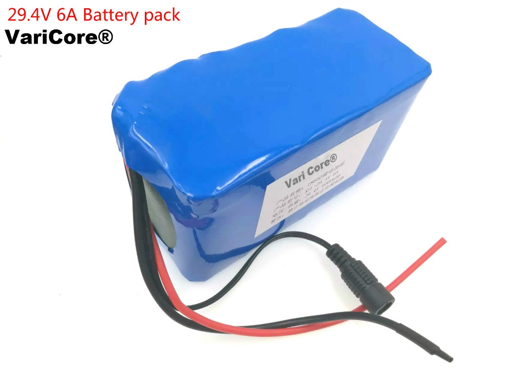 VariCore 24V 6Ah 7S3P 18650 Lithium Ion Battery 29 4V 6000mAh For Electric Bicycle