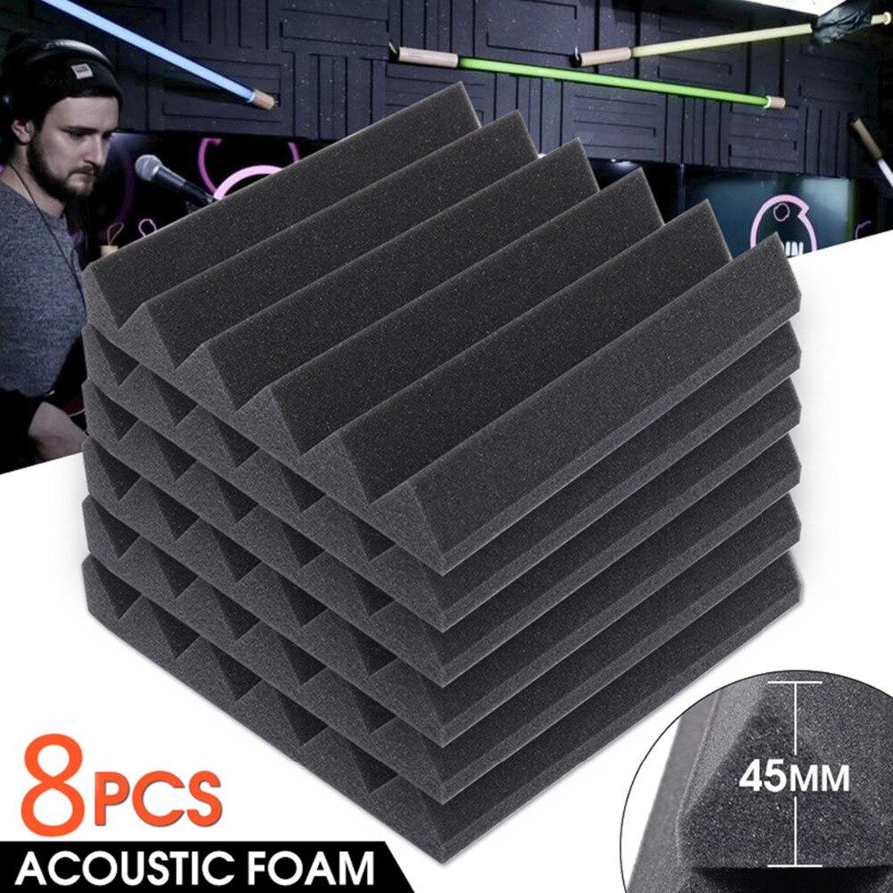 8 Pcs 30.5x30.5cm x4.5cm Soundproofing Foam Sound Treatment Studio Room Absorption Wedge Tiles Polyurethane Foam sound absorption coefficient analysis