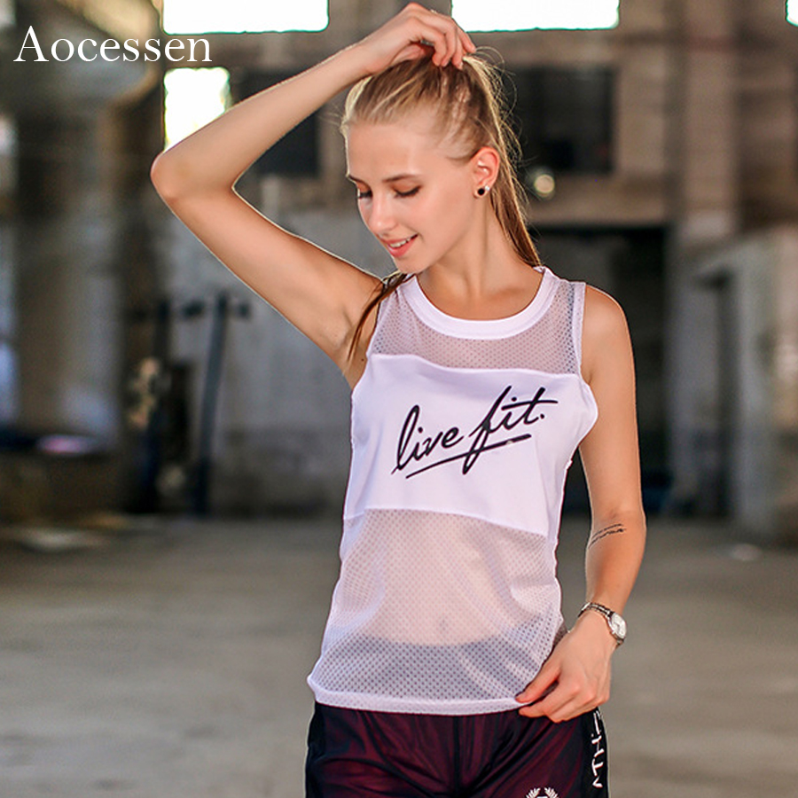 Aocessen Yoga Tops Gym Compression Vest Womens Sport T-shirt Top Dry Quick Running Short Sleeve Fitness Women Yoga t-shirts