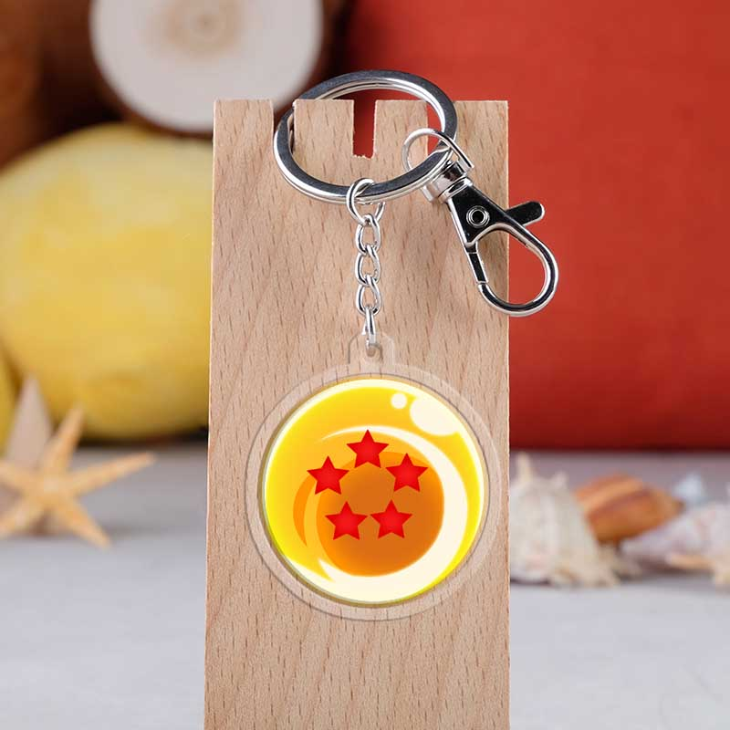 Japanese Anime Dragon Ball Cartoon 1 7 Stars Dragon Ball Car Key Chains Holder Best Friend Graduation Chirstmas Day Gift in Key Chains from Jewelry Accessories