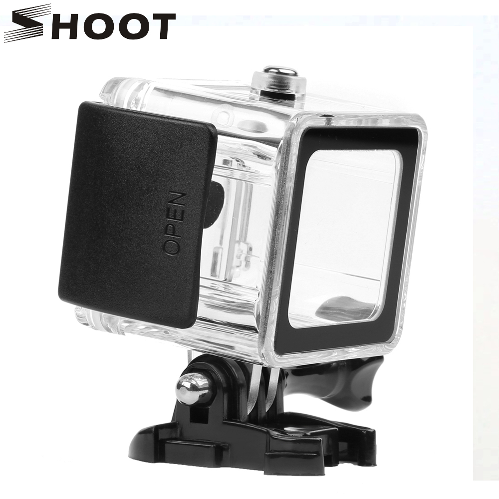 SHOOT 40M Underwater Protective Housing Shell Waterproof Case for Gopro 5 4 Session Hero 4 Hero 5 Go Pro Action Camera Accessory universal waterproof wireless wifi remote control for go pro smart camera controller for gopro hero 5 4 session 3 action camera