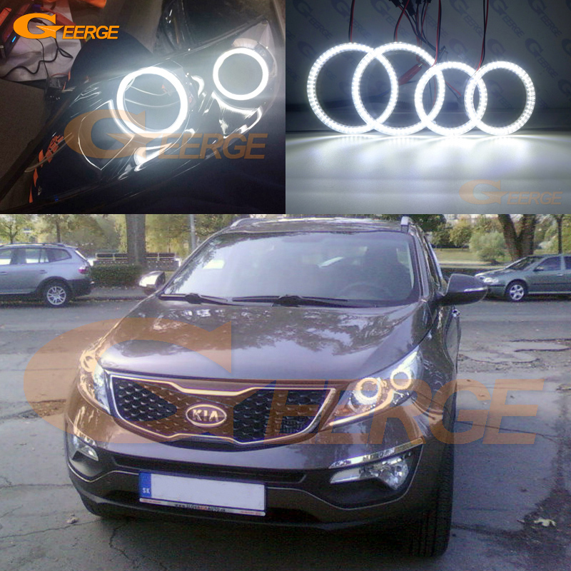 For Kia Sportage 2011 2012 2013 2014 2015 smd led Angel Eyes kit Excellent Ultra bright illumination DRL