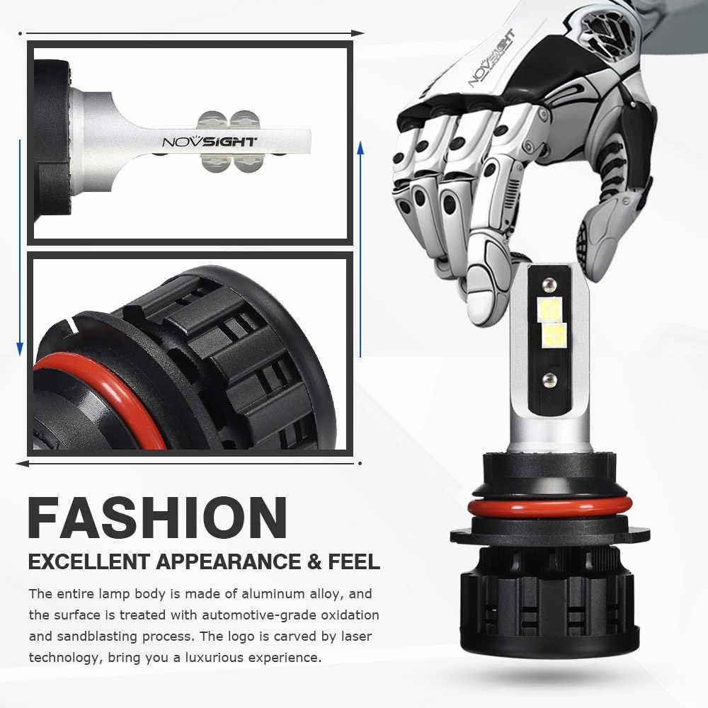 NOVSIGHT 6500K H4 LED H7 H11 H8 HB4 H1 H3 HB3 9005 9006 9007 H13 Auto Car Headlight Bulbs 60W 18000LM Car Styling led automotivo