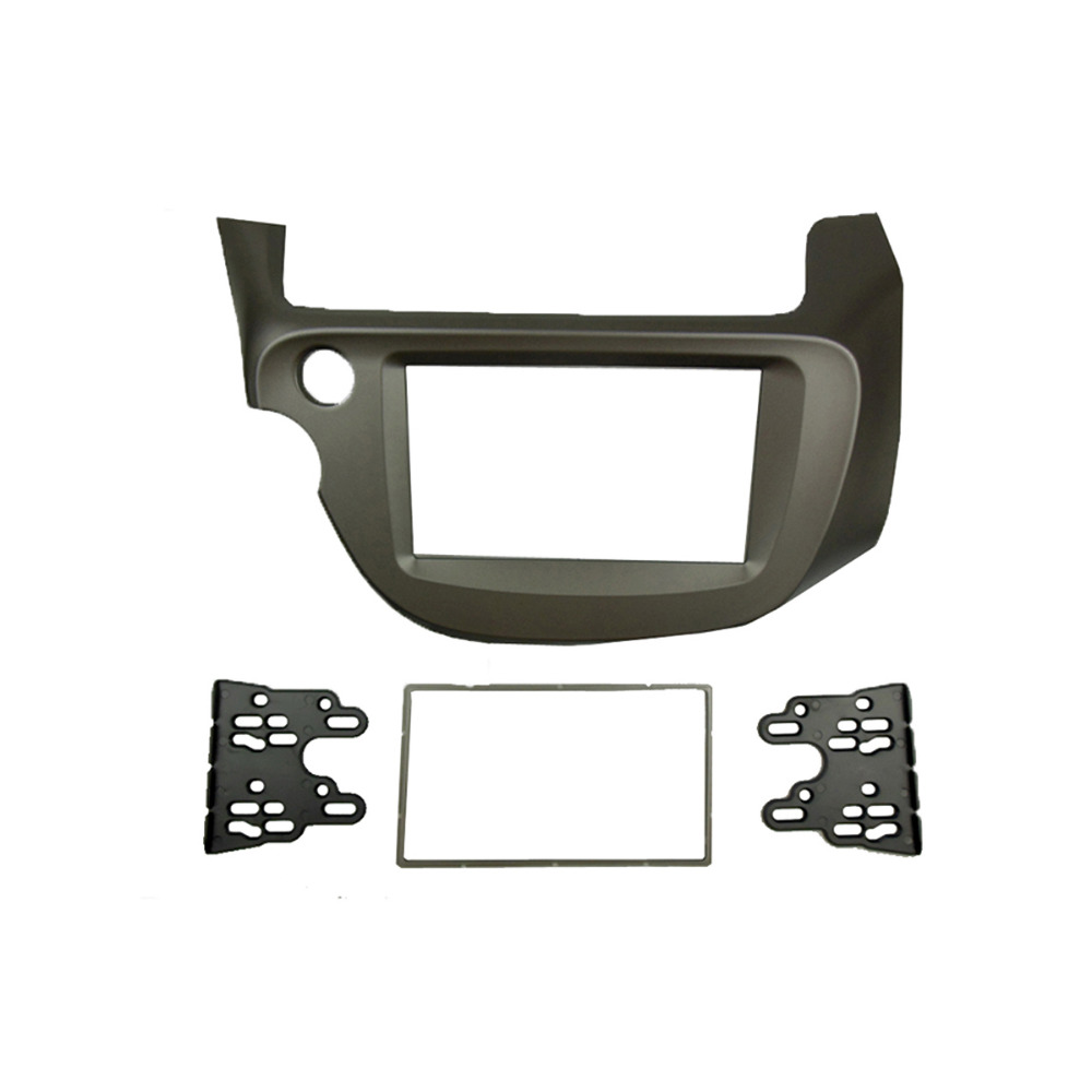 For Honda Jazz Fit Radio DVD Stereo CD Panel Dash Mounting Double Din Facia Installation Trim Fascia Kit Face Frame Bezel jstmax car dvd cd radio fascia panel face plate for toyota prius 2009 2012 right wheel stereo facia trim cd installation kit
