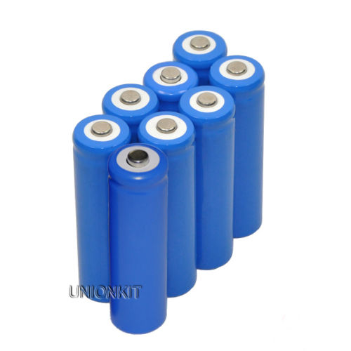 New 8 piece camera 14500 AA Rechargeable Li-ion Battery For LED Torch