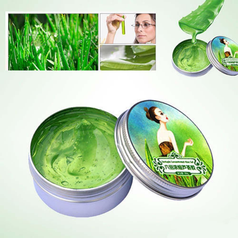 2017 Natural Sixfold Concentrated aloe vera gel Cream perfect remove acne Whitening Oil  ...