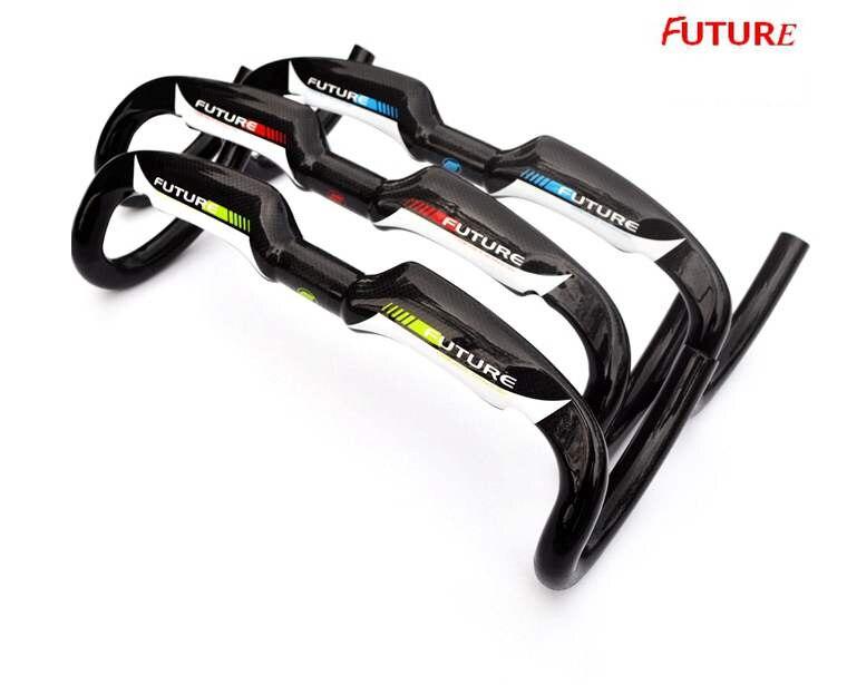 ФОТО Super light carbon handlebar carbon fiber road bike handlebars drop bent bar 3k finish 40/42/44cm inner cable 3 color