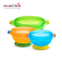 Munchkin Stay Put Suction baby Bowl 3 Count Baby Baby's boy girl feeding Bowl BPA vrij