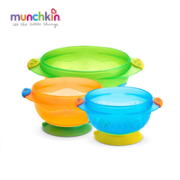 Munchkin Stay Put Suction baby Bowl 3 Count Baby Infants boy girl feeding Bowl BPA free